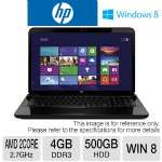 HP Pavilion g7-2340dx Notebook PC - AMD Dual-Core A6-4400M 2.7GHz, 4GB DDR3, 500GB HDD, DVDRW, 17.3 in Display, Windows 8 64-bit (RB-D122UAR) (Refurbished)