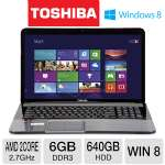 Toshiba Satellite L875D-S7332 Refurbished Notebook PC - AMD Dual-Core A6-4400M  2.7GHz, 6GB DDR3, 640GB HDD, DVDRW, 17.3&quot; Display, Windows 8 64-bit (RB-PSKFQU-008003B)