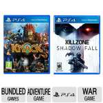 Sony Playstation 4 Bundle Pack - KNACK and Killzone: Shadow Fall Games For Sony PlayStation 4 - 10012 Bundle