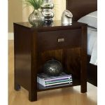 Riva One Drawer Nightstand in Chocolate Brown