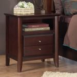 City II Two Drawer Nightstand in Coco