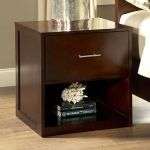 Modera Two Drawer Nightstand in Chocolate Brown