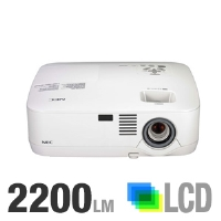 NEC NP310 3LCD XGA Projector - 2200 ANSI Lumens, 1024x768, XGA, 4:3, 2000:1, 6.6 lb