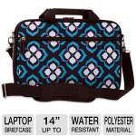 NuoTech Chloe Dao Attach 102088 14&quot; Laptop Briefcase - Water-resistant, Front Zipper Pocket, Organizer, Detachable Padded Shoulder Strap