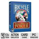 Bicycle Texas Hold 'em Poker/Casino Video Game - PC Game, ESRB: T
