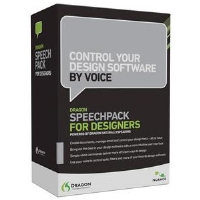 Nuance Dragon SpeechPack For Designers PC Software - Improve Design Efficiency, Proven Accuracy, Works With Windows-Based Applications