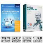 Acronis True Image 2013 Software  and ESET NOD32 Antivirus 6 Software Bundle