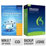 Acronis True Image 2013 Software  and Nuance Dragon Naturally Speaking Software Bundle