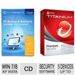 Acronis True Image 2013 Software  and Trend Micro Titanium Premium Security Software  Bundle
