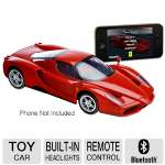 Silverlit Enzo Ferrari R/C Toy Car - RC App for iPhone�/iPod�/iPad�, Bluetooth Control, Built-in Headlights, Full Gesture Control, Sound Effects, 4x AAA Battery Required, Red (8088883)