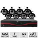 Night Owl LTE-168500 16 Channel LTE DVR - 500GB Hard Drive, 8 Cameras, 30' ft Night Vision, 480 fps, H.264 Video Compression, PC and Mac Compatible, Motion Activated