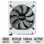 NZXT Hale90 Series 850W Power Supply - 80+ Gold, 140mm Fan, Single +12V, Modular Cable Design, 100% Japanese Capacitors, White (PS-NT-HALE90-850-M)