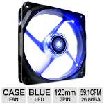 NZXT FZ Fan Airflow Series RF-FZ120-U1 Case Fan - 120mm, 26.8 dBA, 59.1 CFM, 12V DC, 0.71 mm/H2O, Blue LED
