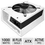NZXT Hale 90 v2 1000W Power Supply - 80+ Gold,  Eco-friendly, High quality Japanese Capacitor, Single +12V Rail, 135mm Dual Ball-bearing Fan (NP-1GM-1000A)