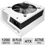 NZXT Hale 90 v2 1200W Power Supply - 80+ Gold,  Eco-friendly, High quality Japanese Capacitor, Single +12V Rail, 135mm Dual Ball-bearing Fan (NP-1GM-1200A) 
