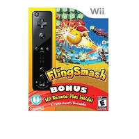Nintendo FlingSmash Action Video Game - Nintendo Wii, Includes Wii Remote Plus Black Controller, ESRB: E