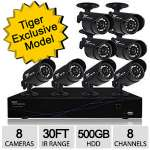 Night Owl TL-88 8 Channel 960H DVR 8 Camera Security System - 500GB HDD, Indoor/Outdoor, 30' ft Night Vision, 480TVL, PC & Mac Compatible, HDMI - TL-88