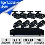 Night Owl TL-168 16 Channel DVR 8 Camera Security System - 500GB HDD, Indoor/Outdoor, 30 ft Night Vision, 480TVL, PC & Mac Compatible, HDMI