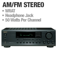 Onkyo TX-8255 Stereo Receiver - AM/FM, Headphone Jack, WRAT, 50 Watts Per Channel