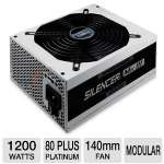 OCZ Silencer MK III 1200W Power Supply - ATX, 80+ Platinum, SLI and CrossFire Ready, Active PFC, 140mm Fan, Modular (PPCMK3S1200)