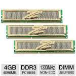 OCZ OCZ3G1333LV4G Gold 4GB PC10666 DDR3 Memory Kit - 3-Pack, 12GB Total