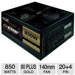 OCZ OCZ-ZX850W ZX Series Modular Power Supply - 850W, 80 Plus Gold, 140mm Fan, Active PFC, SLI & CrossFire Ready