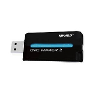 Kworld DVD Maker 2 USB 2.0 Capture Device - USB 2.0, Analog, NTSC, PAL, MPEG 4/2/1 Encoding, Direct to DVD Burn, Youtube Direct Publishing, PSP and iPod Support