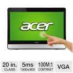 "Acer FT200HQL 20"" Class LED Multi-Touch Monitor-1600 x 900, Built-In Speakers, 2x HDMI / VGA-UM.IT0AA.002"