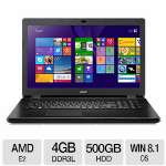 "Acer Aspire E5-721-20GJ AMD Quad Core E2 6110, 4GB Memory, 500GB HDD, 17.3"" HD-Plus 1600 x 900 Display Notebook Windows 8.1 64-bit - NX.MNDAA.004"