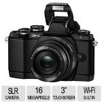 Olympus E-M10 SLR Camera - 16 Megapixels, 3 Axis IS, Built-in Wi-fi, Black - V207021SU000