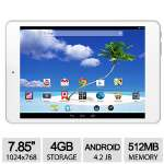 "Proscan 7.85"" Tablet - Android 4.2 Jelly Bean, 1.5GHz Dual Core RK3026, 512MB DDR3 Memory, 4GB Storage, 7.85"" Capacitive Multi Touch Display, 0.3MP Camera, WiFi, Google Certified - PLT7803G"
