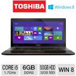 Toshiba Satellite U845W Ultrabook - 3rd generation Intel Core i5-3317U 1.7GHz, 6GB DDR3, 500GB HDD + 32GB SSD Cache, 14.4 in. Display, Windows 8 64-bit (U845W-S430)