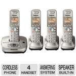 Panasonic RBKX-TG4024N Cordless Phone - Answering System, Four Handset, Wall Mounting Adaptor, Base Built-in Speaker