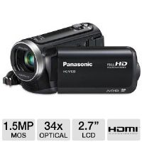 "The Panasonic HCV100K HD Camcorder lets you enjoy shooting exceptional clips  for your home movies as it features an excellent 1/5.8"" MOS  Sensor."
