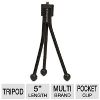 "The Polaroid PLTRIMINI 5"" Flexible Tabletop Tripod allows you to capture smooth videos and blur-free stills as it ensures outstanding image stabilizat"