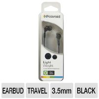 POLAROID PEP14BLK Earbuds - Stereo, 3.5mm, Lightweight, Black