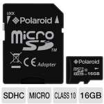 Polaroid P-SDU16G10-EFPOL Hi-Speed MicroSDHC Card - 16GB, Class 10