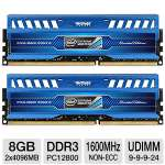 This excellent memory kit offers 8GB (2 x 4GB) of DDR3 memory to provide you with fast and seamless computing operations even during the most demandin