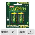 Perf Go Green 25008 C Batteries - 2-Pack