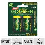 Perf Go Green 25009 D Batteries - 2-Pack