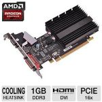 XFX HD-545X-ZQH2 Radeon HD 5450 Video Card - 1GB, DDR3, PCI-Express 2.1 (x16), DVI, HDMI, VGA, DirectX 11, Single-Slot, Low Profile
