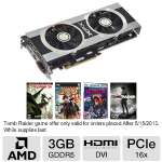 XFX Radeon HD 7950 Double D Video Card - 3072MB, GDDR5, PCI Express 3.0 (x16), 1x DVI, 1x HDMI, 2x Mini DisplayPort, DirectX 11, Dual-Slot, Eyefinity, CrossFireX Ready, Includes 2 Games (FX-795A-TDFC)
