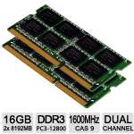 PNY XLR8 16GB Notebook Memory Module Kit - 2x 8GB, PC3-12800, 1600MHz DDR3 - MN16384KD3-1600-X9