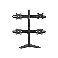 "Planar Systems Quad Monitor Stand - Stand for quad flat panel - black - screen size: 15"" - 24"" - (997-5602-00)"