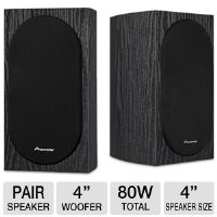 Pioneer Andrew Jones SP-BS22-LR Bookshelf Loudspeaker - 2 Way, 55Hz-20kHz, 80 W, Gold 5-Way Binding Posts