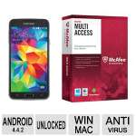 Samsung Galaxy S5 Unlocked Smartphone  and McAfee Multi-Access 1 User 5 Devices Bundle
