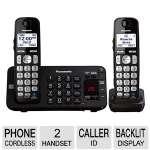 Panasonic KX-TGE242B Cordless phone answering system - caller ID/call waiting, DECT 6.0 Plus, black + additional handset