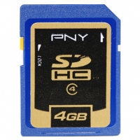 PNY 4GB SDHC Class 4 (4MB/sec) Secure Digital