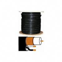 Q-See RG-59 1000-Foot Copper Coaxial Video Cable with Black 18AWG Copper Cables for Power Supply