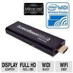 Actiontec Screenbeam Mini 2 Wireless Display Adapter - Full HD, 1920 x 1080, Wireless, DualBand (2.4GHz & 5GHz) Wifi, Intel WiDi-ready,, Windows 8.1+ & Android 4.2+ devices - SBWD60A01